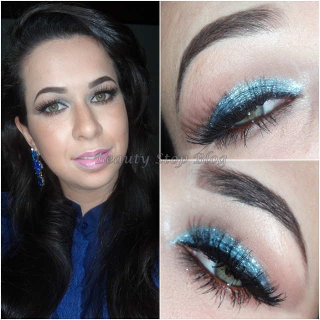 tutorial maquiagem inspirada na sabrina sato gliiter azul balada noite makeup beauty stop blog bruna reis rosto